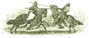 Pwyll duels Hafgan.